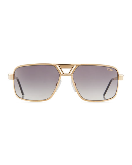 Men's Square Metal Sunglasses
