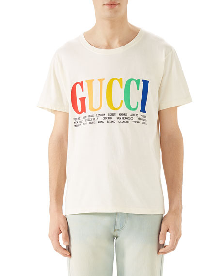 Gucci Cities Logo Graphic T-Shirt