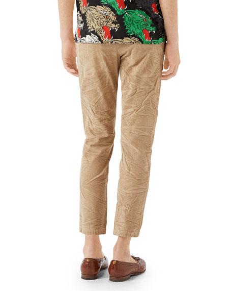 Men's Stretch-Corduroy Ankle Pants