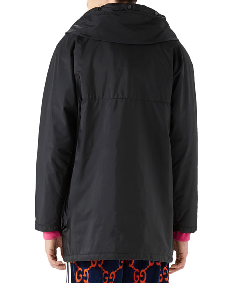 Men's Long Hooded Coat