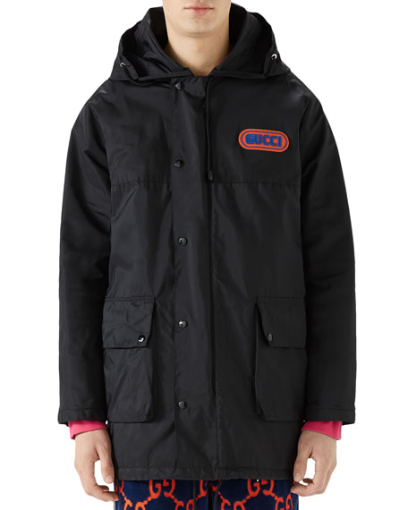Sega Logo Patch Hooded Jacket in Black