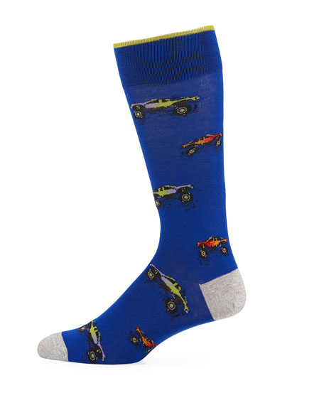 Neiman Marcus Dad & Dude Monster Trucks Socks