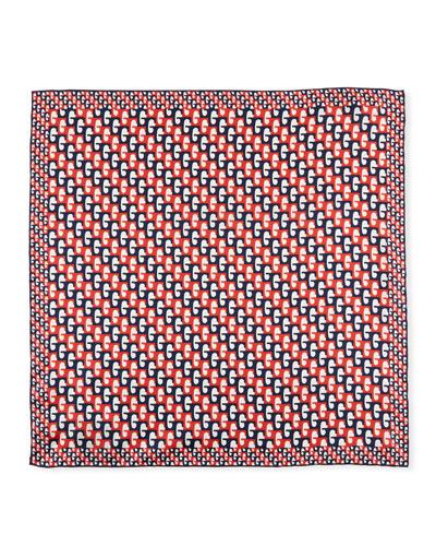 Men's G-Sequence Print Pocket Square