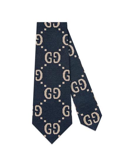 GG Freedom Knit Jacquard Tie