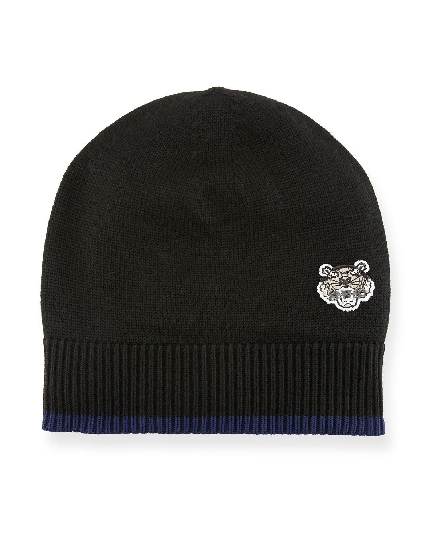 Kenzo Men s Tiger Crest Wool Beanie Hat  676efcaeacc