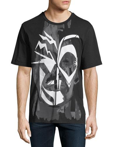 Men's Face Graphic T-Shirt