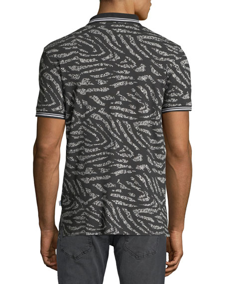 Men's Tiger-Stripe Polo Shirt
