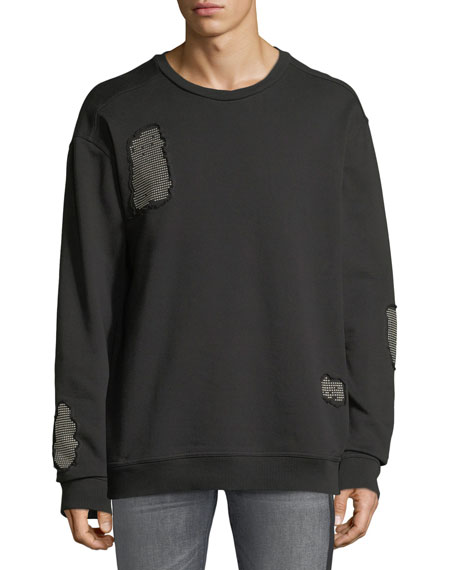 Just Cavalli Stud-Patch Crewneck Sweatshirt