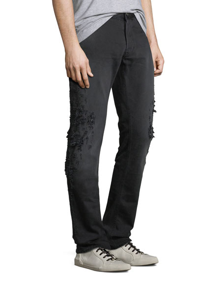 Men's Slim-Fit Destroyed Jeans