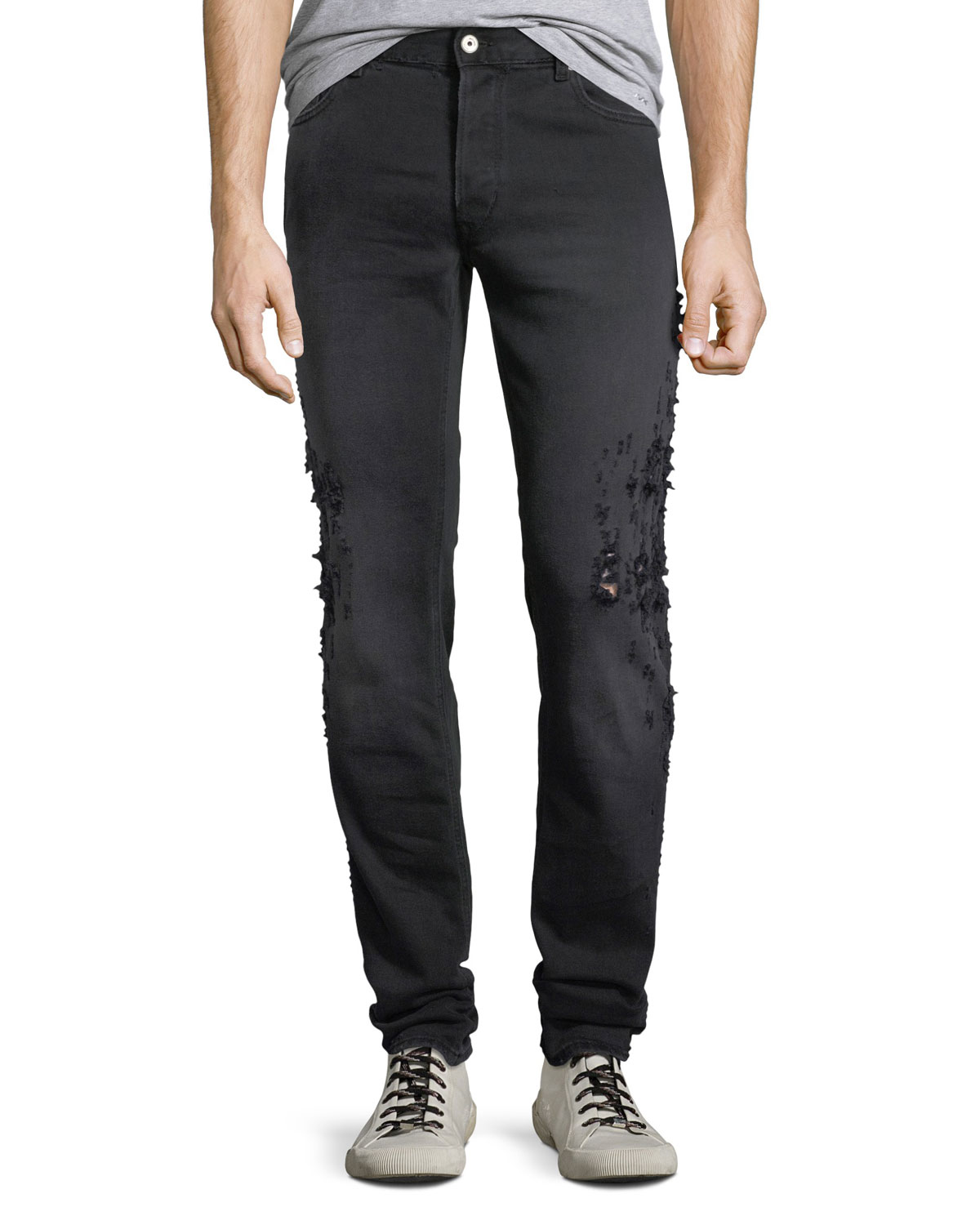 59918aa952 Just Cavalli Men s Slim-Fit Destroyed Jeans