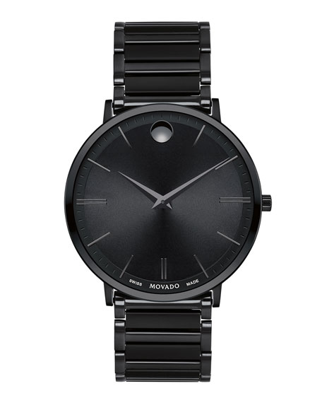 Men's 40mm Ultra Slim Watch, Black