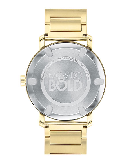 Men's 40mm Bold Evolution Watch, Gold