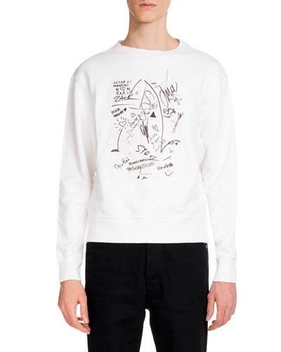 Men's Scribbles Graphic Sweatshirt with Marker