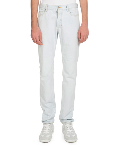 Men's 5-Pocket White-Wash Jeans