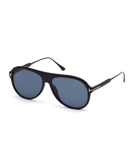 Men's Shield Acetate Sunglasses