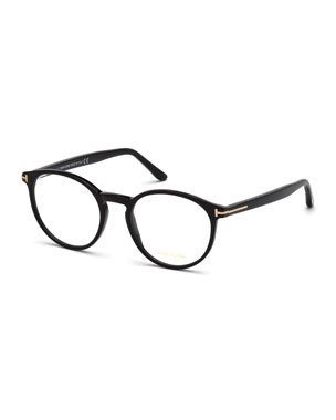 baf6e4f915 TOM FORD Men s Round Acetate Optical Glasses