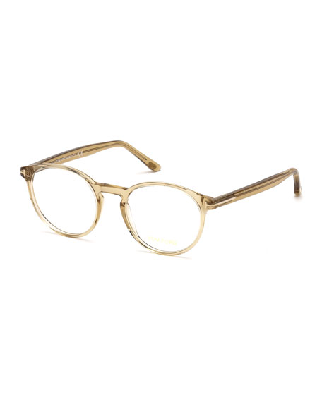 TOM FORD Men's Round Acetate Optical Glasses
