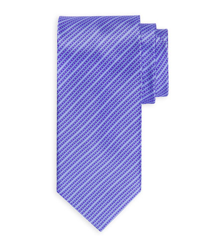 Small Tonal Striped Silk Tie