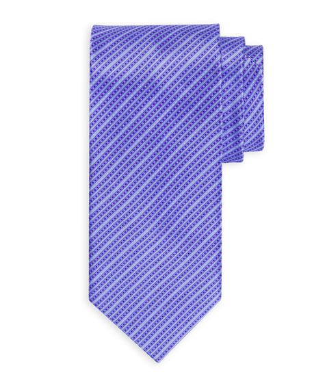 Small Tonal Striped Silk Tie