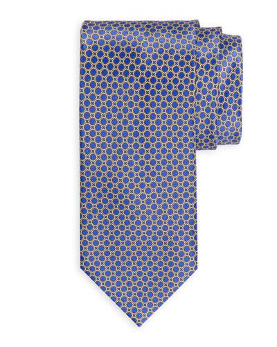 Medium-Square Printed Silk Tie