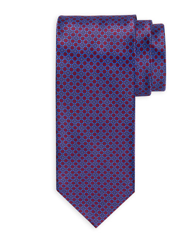 Medium-Circle Printed Silk Tie