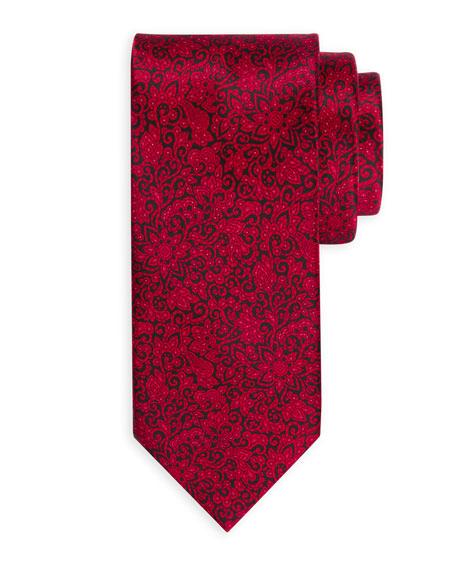 Small Paisley Silk Tie