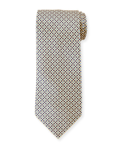 Stefano Ricci Small-Diamond Silk Tie
