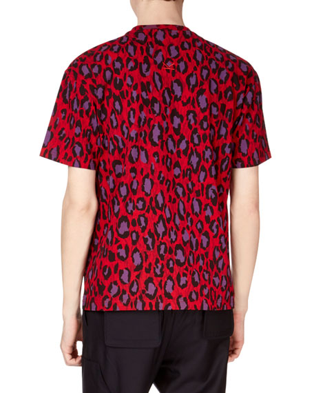 Men's Neon Leopard-Print T-Shirt