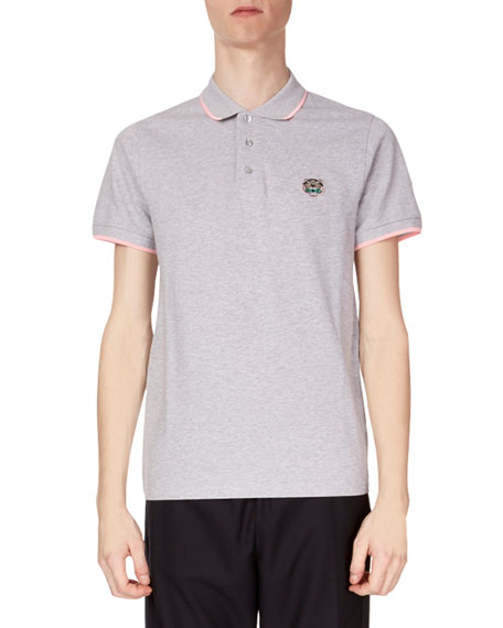 Men's Fitted Tiger Crest Polo Shirt