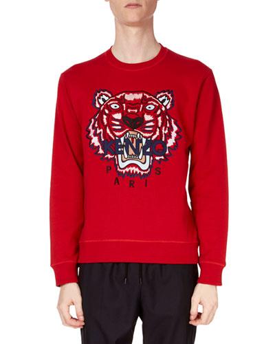 Men's Classic Tiger-Graphic Sweatshirt