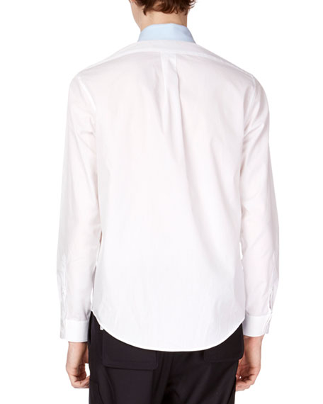 Men's Patched Casual Shirt