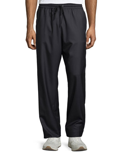 Men's Drawstring Cargo-Pocket Pants