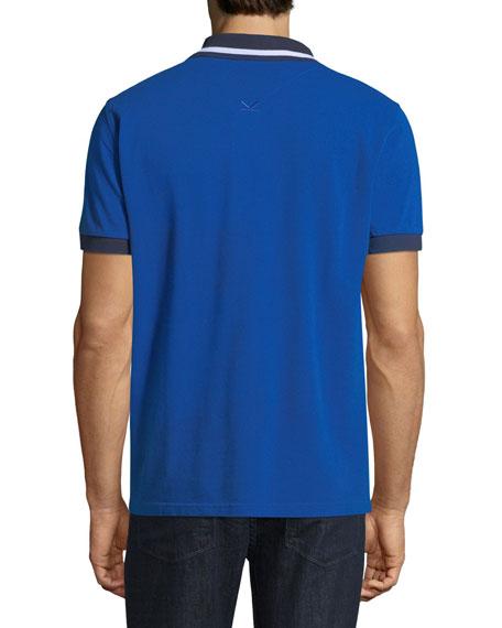 Men's Jumping Tiger Collared Polo Shirt
