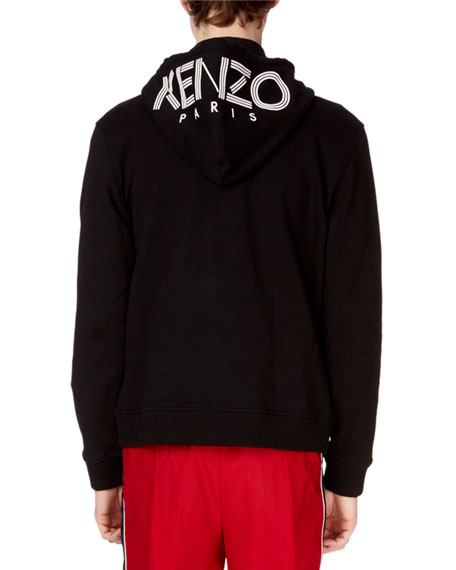 Men's Logo-Hood Zip-Front Hoodie Cotton Jacket