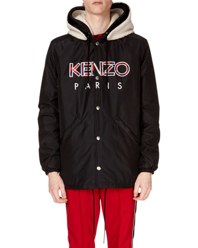 Men's Paris Logo Hooded Jacket