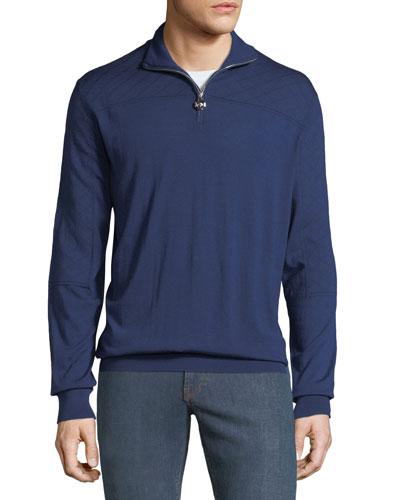 Men's Mock-Neck Quarter-Zip Sweater