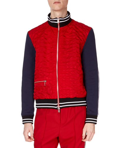 Men's Quilted Bomber Jacket