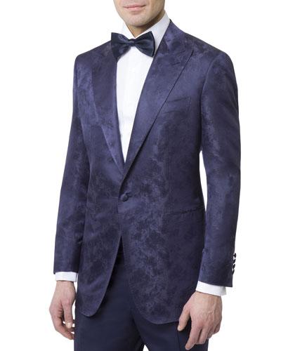 Men's Textured Silk Dinner Jacket