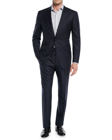 Men's Shelton Base Wool-Silk Two-Piece Suit