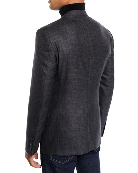 Men's Shelton Melange Wool/Silk Blazer Jacket