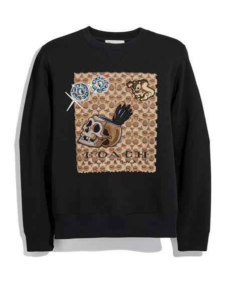 Disney Dark Fairy Tale Men's Appliqué Sweatshirt