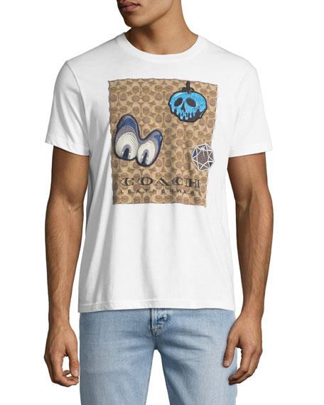 Coach Disney Dark Fairy Tale Men's Appliqu?? T-Shirt