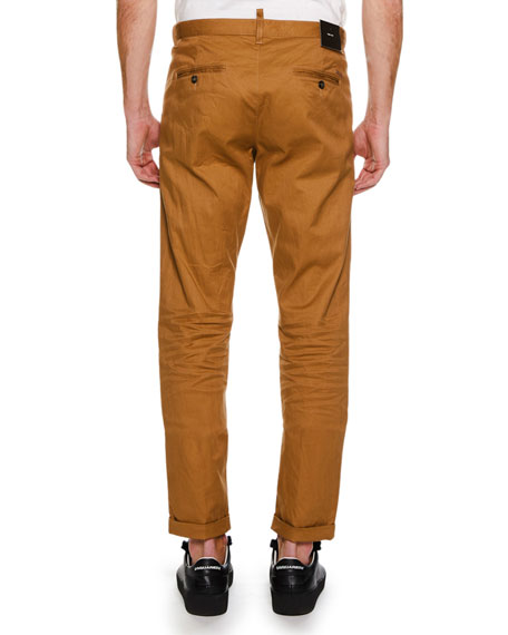 Men's Cotton Twill Straight-Leg Pants