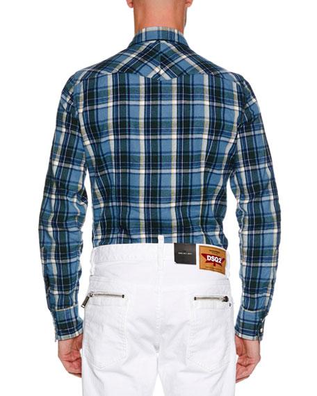 Men's Western-Style Plaid Shirt