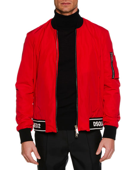 Men's Contrast-Trim Sports Jacket