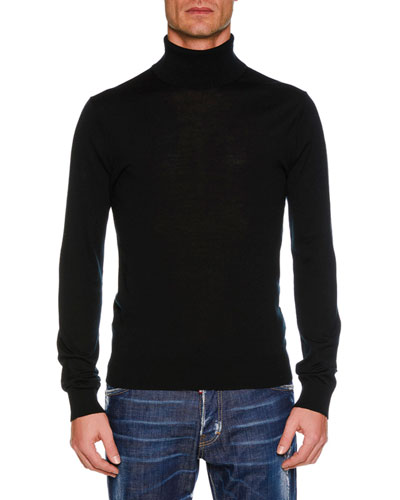Men's Wool Turtleneck Sweater