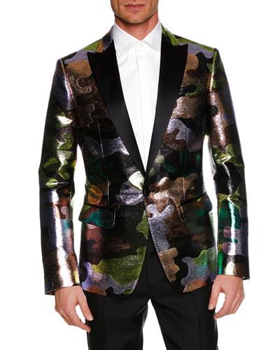 Men's Multicolor Camouflage Dinner Jacket