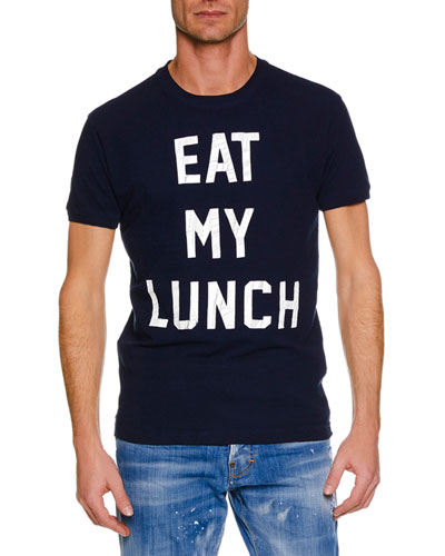 Men's Eat My Lunch Typographic T-Shirt