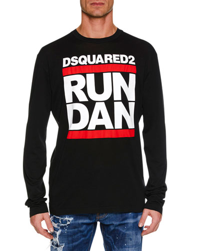 Men's Run Dan Logo Graphic Long-Sleeve T-Shirt