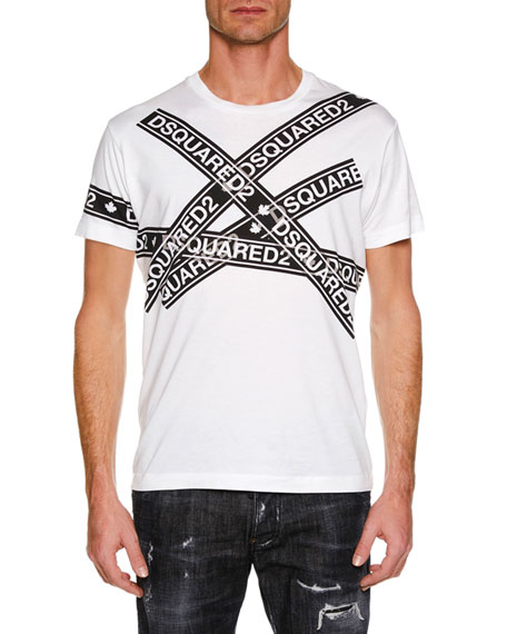 Men's Logo Taping Graphic T-Shirt
